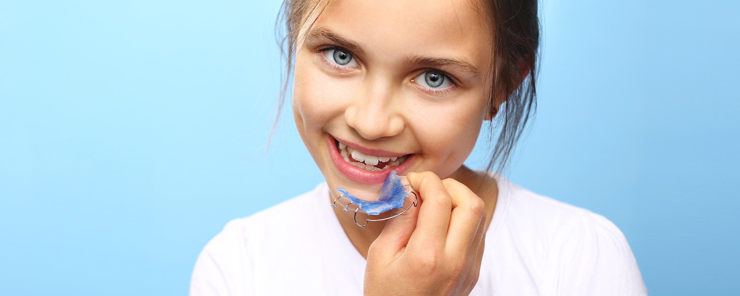 girl with retainer